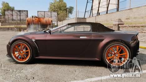 GTA V Dewbauchee Rapid GT für GTA 4 linke Ansicht