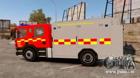 Scania 94D 260 BAS1 Stockholm Fire Brigade [ELS] für GTA 4 linke Ansicht