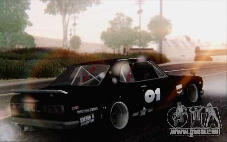 Nissan Skyline 2000 GTR Drift pour GTA San Andreas laissé vue