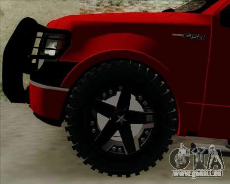 Ford F-150 für GTA San Andreas Innenansicht