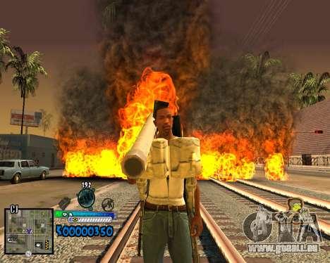 C-HUD Old School pour GTA San Andreas deuxième écran