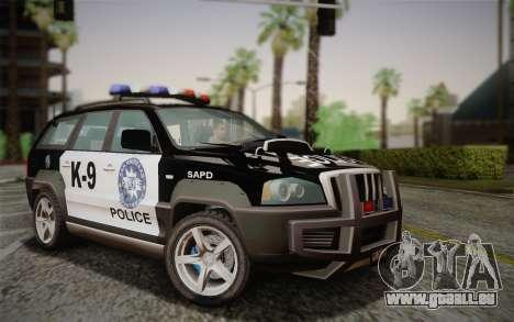 NFS Suv Rhino Heavy - Police car 2004 pour GTA San Andreas
