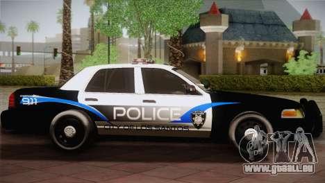 Ford Crown Victoria Police Interceptor 2009 für GTA San Andreas linke Ansicht