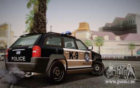 NFS Suv Rhino Light - Police car 2004 pour GTA San Andreas sur la vue arrière gauche