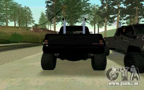 GMC Topkick pour GTA San Andreas laissé vue