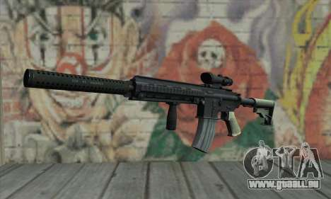 M416 with ACOG sight and silenced pour GTA San Andreas