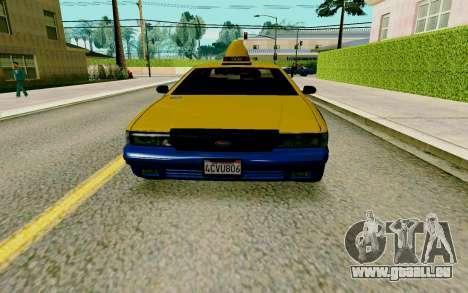 GTA V Taxi pour GTA San Andreas laissé vue