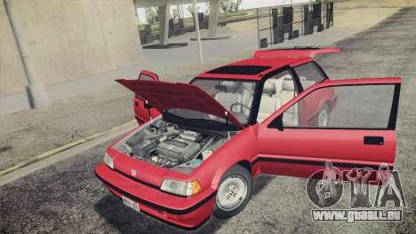 Honda Civic Si 1986 HQLM für GTA San Andreas obere Ansicht