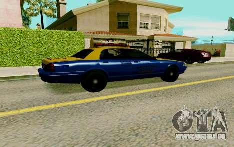 GTA V Taxi pour GTA San Andreas sur la vue arrière gauche