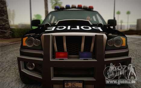 NFS Suv Rhino Heavy - Police car 2004 pour GTA San Andreas vue arrière
