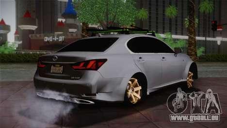 Lexus GS250 F für GTA San Andreas zurück linke Ansicht