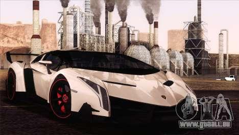 Lamborghini Veneno Roadster LP750-4 2014 pour GTA San Andreas vue arrière