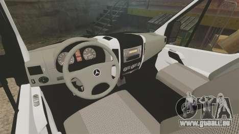 Mercedes-Benz Sprinter 313 CDI Police [ELS] pour GTA 4 Vue arrière