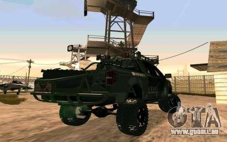 Ford F150 Raptor Unique Edition pour GTA San Andreas sur la vue arrière gauche