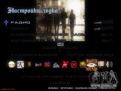 Menu De Course De La Mort pour GTA San Andreas troisième écran