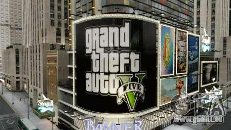 Panneaux d'affichage de GTA 5 pour GTA 4