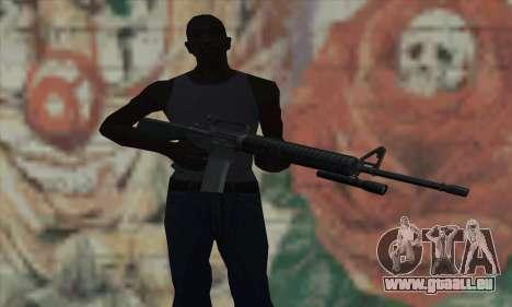 M16 de L4D pour GTA San Andreas troisième écran