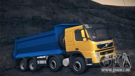 Volvo FM12 8X4 Dumper pour GTA San Andreas laissé vue