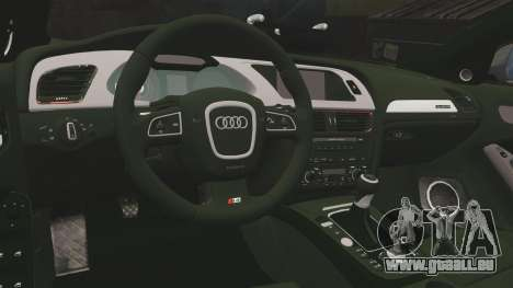 Audi S4 2013 Metropolitan Police [ELS] pour GTA 4 est un côté