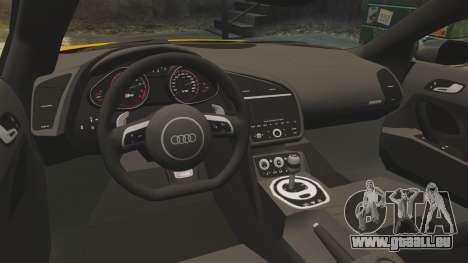 Audi R8 V10 plus Coupe 2014 [EPM] [Update] pour GTA 4 est un côté