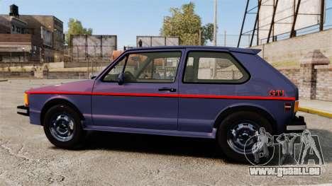Volkswagen Rabbit GTI 1984 pour GTA 4 est une gauche