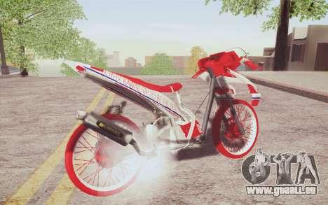 Vario Drag version JKT48 pour GTA San Andreas sur la vue arrière gauche