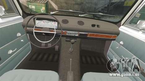 VAZ-Lada 2101 URSS pour GTA 4 vue de dessus