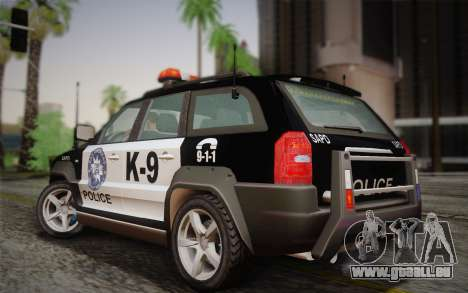 NFS Suv Rhino Heavy - Police car 2004 pour GTA San Andreas sur la vue arrière gauche