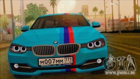 BMW 328d 2014 für GTA San Andreas rechten Ansicht