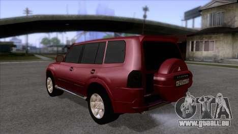 Mitsubishii Pajero IV pour GTA San Andreas sur la vue arrière gauche