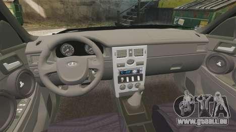 VAZ-2170 Lada Priora Luks für GTA 4 Innenansicht