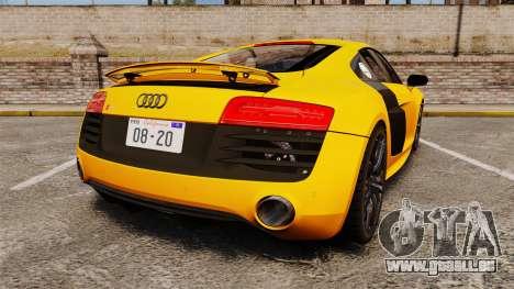 Audi R8 V10 plus Coupe 2014 [EPM] [Update] pour GTA 4 Vue arrière de la gauche