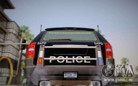 NFS Suv Rhino Heavy - Police car 2004 pour GTA San Andreas vue intérieure