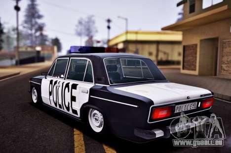 VAZ 2106 Polizei für GTA San Andreas linke Ansicht
