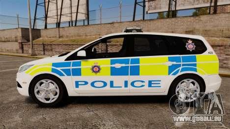 Ford Focus Estate British Police [ELS] pour GTA 4 est une gauche