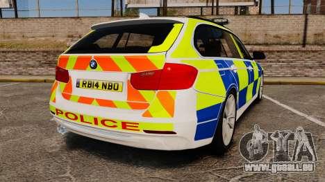 BMW 330d Touring (F31) 2014 Police [ELS] für GTA 4 hinten links Ansicht