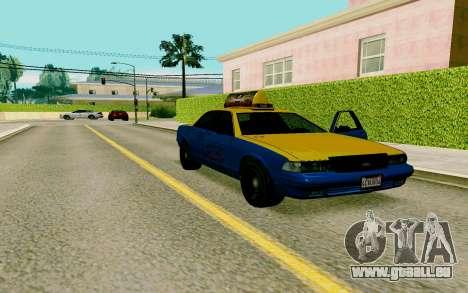 GTA V Taxi pour GTA San Andreas vue de droite