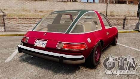 AMC Pacer für GTA 4 hinten links Ansicht