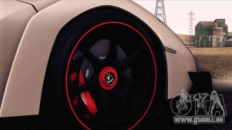 Lamborghini Veneno Roadster LP750-4 2014 pour GTA San Andreas vue de dessus