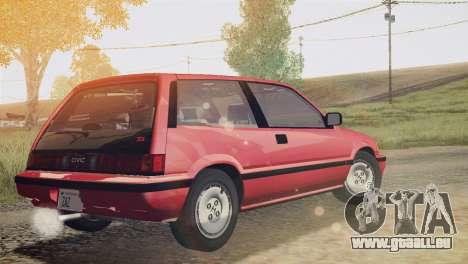Honda Civic Si 1986 HQLM für GTA San Andreas linke Ansicht
