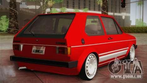 Volkswagen Golf MK1 Red Vintage pour GTA San Andreas sur la vue arrière gauche