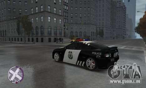 Holden Monaro CV8-R Police für GTA 4 hinten links Ansicht