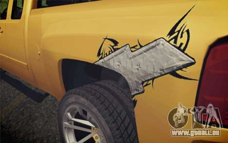 Chevrolet Silverado 2500 LTZ pour GTA San Andreas vue arrière