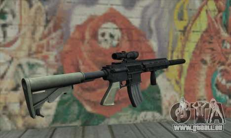M416 with ACOG sight and silenced für GTA San Andreas zweiten Screenshot