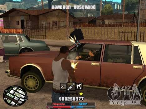 Cleo Hud Cameron Rosewood pour GTA San Andreas deuxième écran