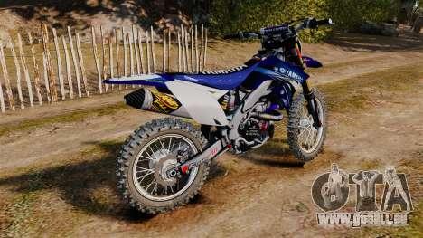 Kawasaki KX250F (Yamaha) pour GTA 4 est une gauche