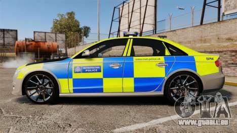 Audi S4 2013 Metropolitan Police [ELS] pour GTA 4 est une gauche