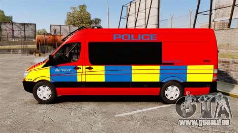 Mercedes-Benz Sprinter 313 CDI Police [ELS] pour GTA 4 est une gauche
