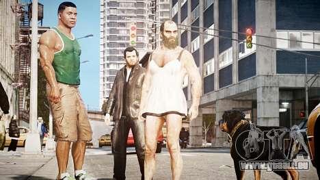 GTA V Franklin Clinton pour GTA 4 troisième écran