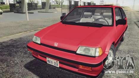 Honda Civic Si 1986 HQLM für GTA San Andreas rechten Ansicht
